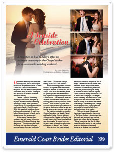 read about us in Emerald Coast Brides!